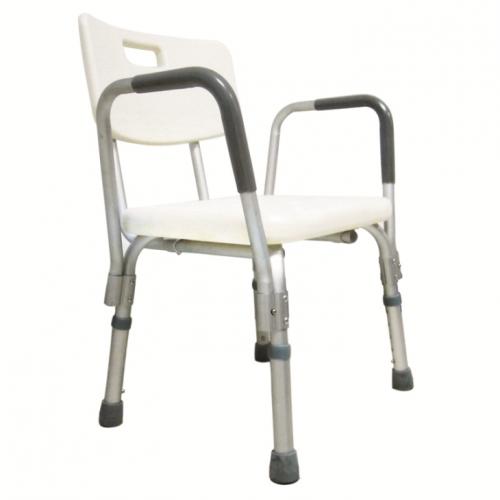 เก้าอี้อาบน้ำ มีพนักพิงและที่วางแขน